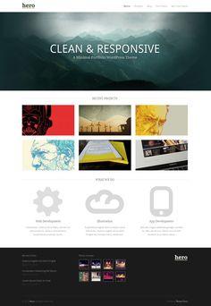 Hero Wordpress Minimal Portfolio Theme
