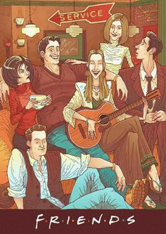 Remember when you wished your friends were this cool? 28 Pieces Of Unsettling Sitcom Fan Art Serie Friends, Friends Cast, Friends Moments, I Love My Friends, Friends Show, Friends Forever, Friends Episodes, Chandler Bing, Ross Geller