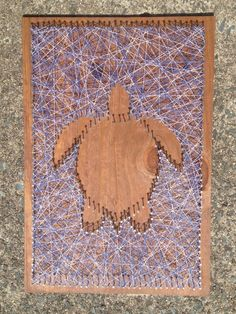 Nail string art turtle outline
