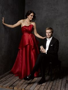 Mark Seliger's Portrait Studio at the Vanity Fair/Bloomberg White House Correspondents Party 2014 ~ Bellamy Young & Ronan Farrow