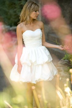 Short wedding dress Beach Wedding  Country Wedding
