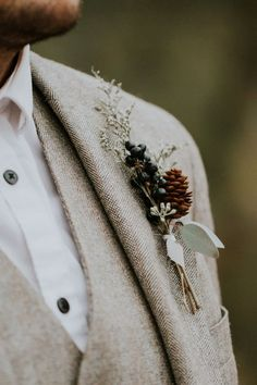 Wedding Inspiration // Dreamy Autumn Forest Elopement, groom suit inspiration 2020 - hashtags} - im Winter wedding groom Elope Wedding, Wedding Ceremony, Rustic Wedding, Dream Wedding, Elopement Wedding, Wedding Groom, Tweed Wedding, Wedding Venues, Cabin Wedding