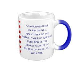 American Citizenship Flag Mug Design from Mug Designs by Janz