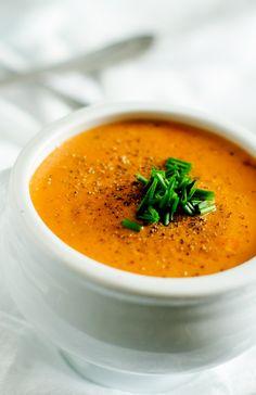 Creamy Garlic Tomato Quinoa Soup - Cooking Quinoa