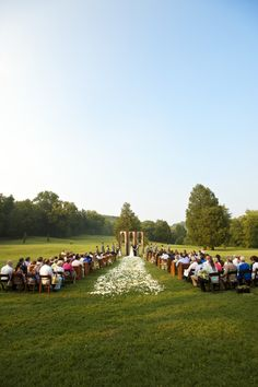 Cedarwood Outdoor Cathedral Ceremony. The WOW factor!  Photo by Justin Wright.    www.cedarwoodweddings.com