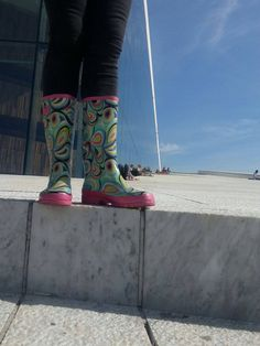 Boots about to be steeped in the culture of the Oslo Art Centre