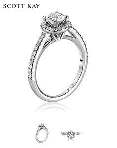 Beautiful Scott Kay Luminaire Diamond Engagement Ring. Product Style: M2053R510 #ScottKay #Diamonds #EngagementRings