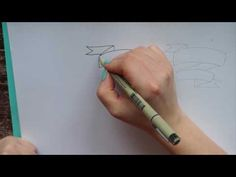 How to Handlettering - Banner Thank You - YouTube