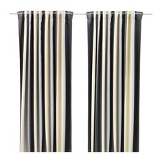 IKEA - PRAKTLILJA, Block-out curtains, 1 pair, , The curtains prevent most light from entering and provide privacy by blocking the view into the…