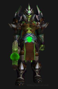 Unholy Death Knight Apocalypse Transmog Set - Unholy War Skin with Green Tint Transmog. World of Warcraft Legion.