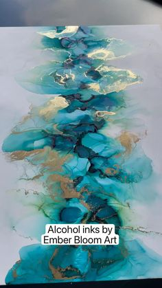 Alcohol Ink Glass, Alcohol Ink Crafts, Alcohol Ink Painting, Alcohol Ink Tiles, Alcohol Inks, Art Painting Tools, Abstract Painting Techniques, Drip Art, Ink In Water