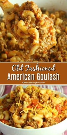 Old Fashioned American Goulash – Maria's Mixing Bowl Loading. Old Fashioned American Goulash – Maria's Mixing Bowl Easy Goulash Recipes, Crockpot Recipes, Cooking Recipes, Simple Goulash Recipe, Pasta Recipes, Chicken Recipes, Ground Beef Recipes For Dinner, Dinner Recipes, Gulosh Recipe