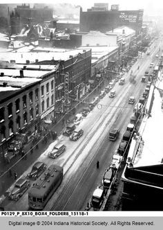 The glory days if terre haute i should've been there!!!   Wabash Avenue, Terre Haute, Indiana 1936