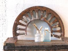 architectural salvage piece arch iron patina mantle by tribute212, $42.00