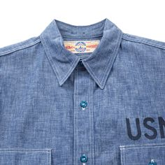 The Real McCoy's U.S. Navy Chambray Shirt - Blue - SHIRTS - CATEGORIES - Superdenim