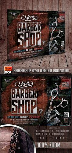 Barbershop Flyer Template Horizontal