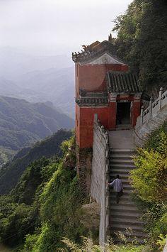 Monastery, Wudang Mountains (Wu Tang Shan), Hubei Province, China  √