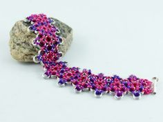 Japanese Diamond in Pink & Purple by creativeglassarts for $38.00
