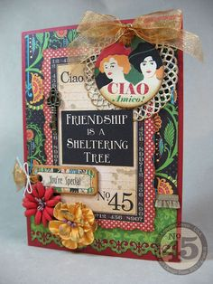 Annette's Creative Journey: Typography His & Hers Cards & my Graphic 45 Loot!