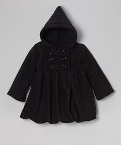 Take a look at this Black Fleece Mary-Jayne Bubble Coat - Toddler & Girls by Corky & Company on #zulily today!