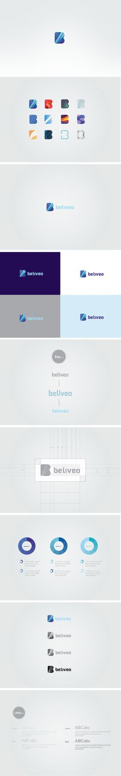 Beliveo - interactive agency by Mateusz Pałka, via Behance