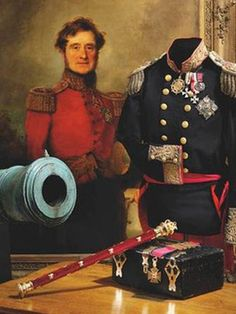 A portrait of Field Marshall Lord Raglan. Born on this day 30th September, 1788, British soldier, he was wounded in the right arm at Waterloo and had to go amputation. The Raglan sleeve was named after him as he wore this style of coat after losing his arm