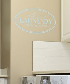 Take a look at this Belvedere Designs Powder Blue 'Laundry' Wall Decal by Color Trends: Bold Blue on #zulily today!