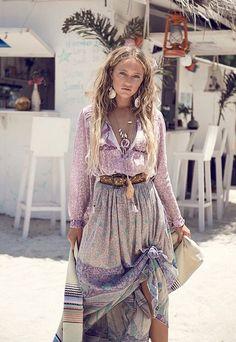 Xanadu purple haze blouse and Xanadu opal skirt - Spell, Byron Bay