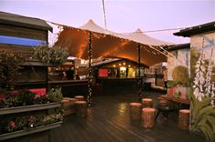 WigWamBam in London - eat and drink in a big camping tent