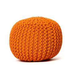 Knitted Pouf Orange, 68€, now featured on Fab.