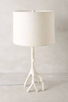 Anthropologie Metallic Branch Lamp Ensemble - home decor, indoor decorations, lamp (metallic, branch)