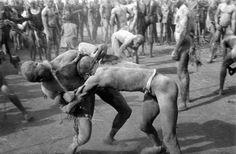 george rodger sudan kordofan a korongo nuba wrestling match 1949 Tribe Sports, Rite De Passage, French West Africa, Work In Africa, 7 Arts, Martial Artists, Photographer Portfolio, African Diaspora, Magnum Photos
