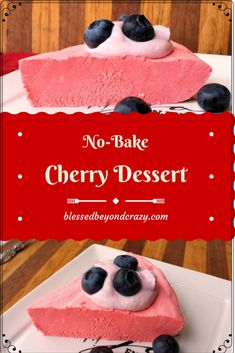 Low-Carb, No-Bake Cherry Dessert - Maybe I'm just getting lazy in my old age but I sure do enjoy a good recipe that is super simple. Only requires 3 ingredients to make and it's low-carb, gluten free and diabetic-friendly!