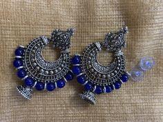 Chunky Jewelry, Metal Jewelry, Jewelery, Silver Jewelry, Kerala Jewellery, Oxidised Jewellery, Diy Earrings, Jewelries, Necklace Designs