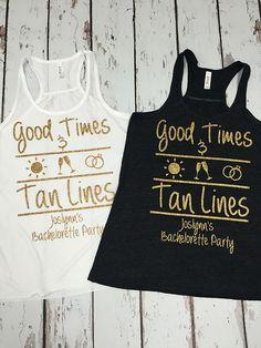 Good Times & Tan Lines - Custom Bridal Party Tank Tops Premium