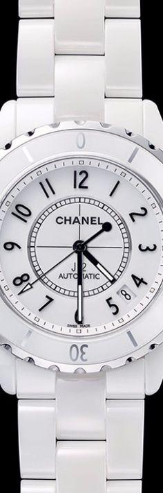 Chanel J12 White Gem Set Steel Watch