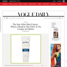 @purlisse #spf30 featured in @voguemagazine! Glow and protect yourself from the #skincancer www.purlisse.com