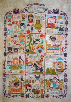 Image of 2014 Once Upon A Time Sampler PDF Cross Stitch Pattern  $19.99