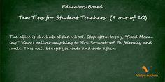 Student teacher tips (tip 9)
