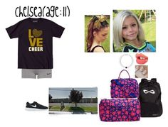 """Chelsea-Cheerleading Convention And Camp"" by dreamfamily ❤ liked on Polyvore featuring Charlotte Tilbury, Vera Bradley, NIKE and TheSanchezFamily"