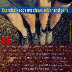 Exercise fills up the space that your addiction - excessive eating, drinking, substance abuse - once took. Great swathes of time, brain space, life, is lost to your over-eating/drinking/substance. And what do you do when you aren't doing it anymore? Seriously, that is a very big issue. Exercise goes toward filling that vacuum. With your addictive personality you can now channel your energies positively into exercise.