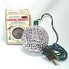 1960s Electronic Chirping Bird Musical Christmas Ornament