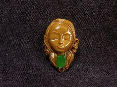 Goddess Pendant Goddess Jewelry Goddess Necklace Golden Goddess goddess figure carved goddess necklace gemstone goddess Carved Figure by AbigailSmycken Pagan Jewelry, Fairy Jewelry, Geek Jewelry, Fantasy Jewelry, Etsy Jewelry, Diy Fimo, Polymer Clay, Game Of Thrones Jewelry, Witch Decor