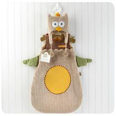 """My Little Night Owl"" Snuggle Sack- Owl Baby Shower Gift Idea"