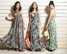 1eb34ba1d4 Moda 2016. Sophya tendencia verano 2016 vestidos largos estampados. Moda  verano 20116 vestidos.