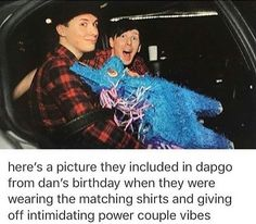 I didn't know they had matching shirts... THAT MAKES IT SO MUCH BETTER
