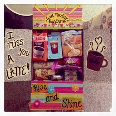 Care package - I miss you a latte! :) #deployment #milso #militarycarepackage