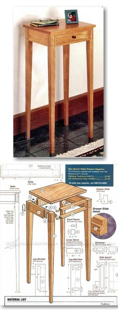 Build Hall Table - Furniture Plans and Projects | WoodArchivist.com