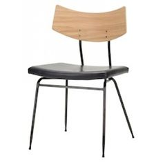 A simple silhouette and mix of materials give the Nuevo Soli Dining Chair its modern minimalism. This dining chair boasts a contoured wood back in light. Black Leather Dining Chairs, Solid Wood Dining Chairs, Upholstered Dining Chairs, Dining Chair Set, Chair Upholstery, Dining Room, Contemporary Dining Chairs, Modern Chairs, Modern Furniture