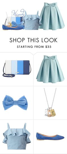 """""""Wendy (Peter Pan)"""" by claucrasoda ❤ liked on Polyvore featuring Kate Spade, Chicwish, claire's, Disney, Miss Selfridge, Sigerson Morrison and bows"""